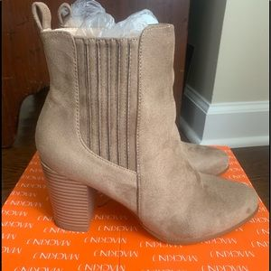 Taupe suede boots worn 1x